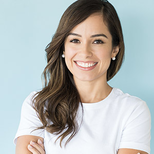 woman smiling for cosmetic dentistry
