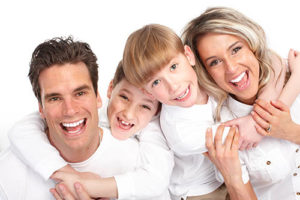 a family benefits from family dentistry services